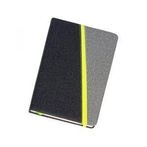 Libreta con pasta rigida fabricada en poliuretano con resorte y separador, 80 hojas. Libretas Uniformes y Promocionales Promomex
